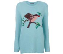 Pullover mit Vogelmuster