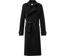 twill loop-back trench coat