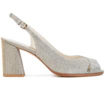 Peeptoe-Sandalen mit Blockabsatz - women