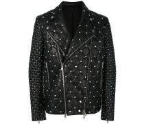 studded quilted biker jacket