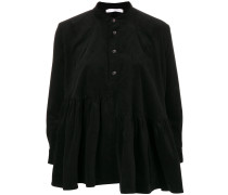 corduroy frill smock blouse