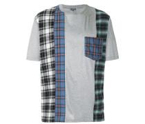 T-Shirt mit kariertem Einsatz