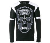 'None' Sweatshirt mit TotenkopfPrint