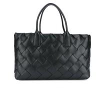 Intrecciato weave large leather tote bag