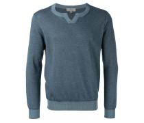 Pullover mit kontrastfarbigen Einsätzen - men
