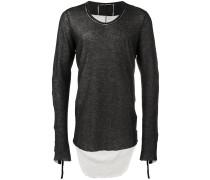 Sweatshirt mit asymmetrischem Saum