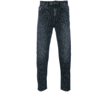 Schmale Jeans mit Buchstaben