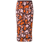 patterned fitted skirt