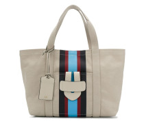 front striped tote