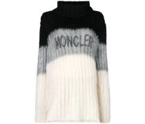 colour-block logo sweater