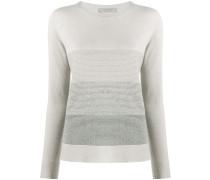long-sleeve colour block jumper