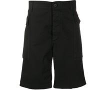 Cargo-Shorts mit Fischgrätenmuster