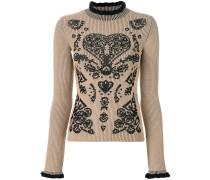 ribbed intarsia jumper
