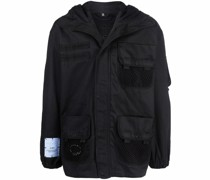 logo-patch hooded jacket