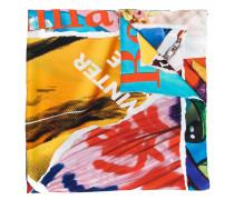 magazine print scarf