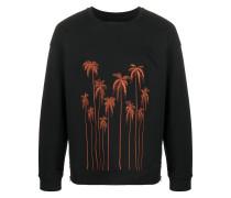 Sweatshirt mit Palmenstickerei