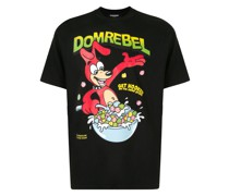 T-Shirt mit Müslischachtel-Print