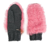 fur patch mittens