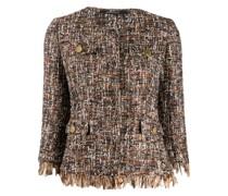 Tweed-Jacke mit Cropped-Ärmeln