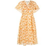 Luciana polka dot ikat dress