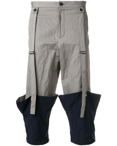 Hose mit umgeschlagenem Saum