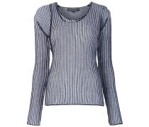 Zweiteiliger Pullover mit geripptem Design