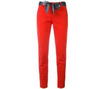 cropped trousers - women - Baumwolle/Elastan