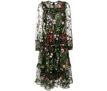 Florales Kleid mir semi-transparentem Design