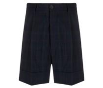Karierte Shorts mit Bundfalten