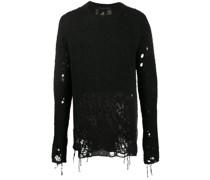 distressed wool jumper