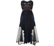grommet lariat lace bustier midi dress