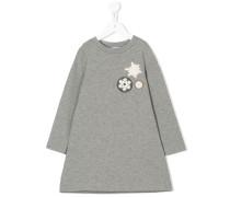 Kleid mit Schneeflocken-Applikation