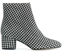 houndstooth printed boots