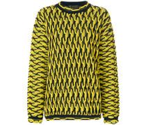 Oversized-Pullover mit Wabenstruktur