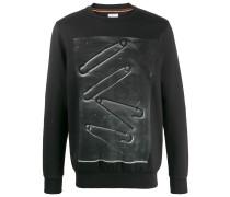 Pullover mit Sicherheitsnadel-Print