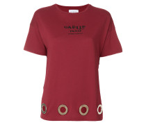 T-Shirt mit Ösensaum