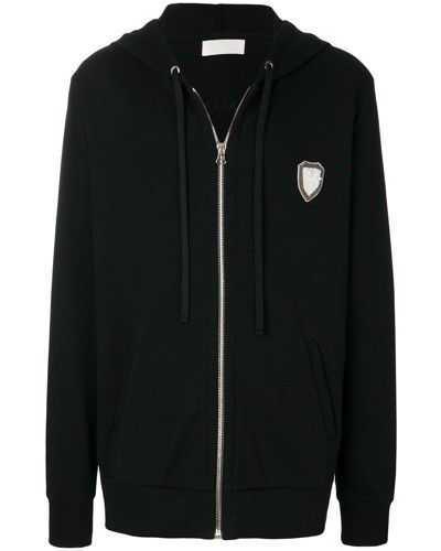long embroidered hoodie