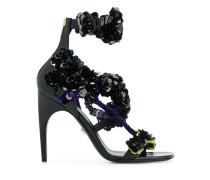 floral sequin-embellished sandals