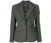 fitted single-breasted blazer