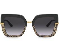 Eckige 'Half Print' Sonnenbrille