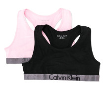 pack of two logo trim bralettes