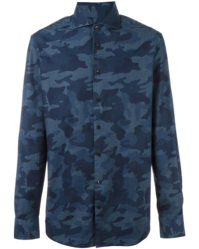 hackett herren hemd mit camouflage print reduziert. Black Bedroom Furniture Sets. Home Design Ideas