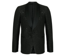 sequin-embellished smoking jacket