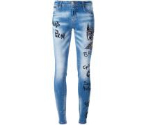 'Think Blue' Skinny-Jeans
