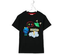 "T-Shirt mit ""Fendi Monster""-Print"