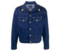 Jeansjacke mit metallenen Kragenspitzen