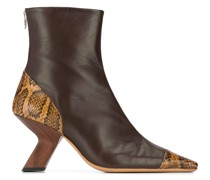Marley snakeskin-panel ankle boots