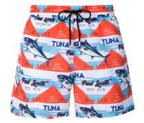 tuna print swimming shorts