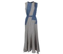 Gemustertes Kleid mit Taillengürtel