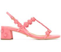 Sandalen mit Blumenapplikationen - women